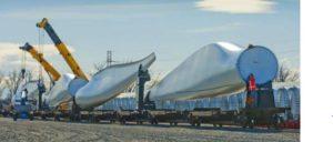 Operações de instalação de turbinas eólicas